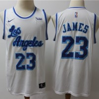 LeBron James Los Angeles Lakers Throwback White Jersey