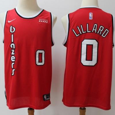 Damian Lillard Portland Trail Blazers Throwback Red Jersey