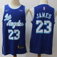 LeBron James Los Angeles Lakers Throwback Blue Jersey