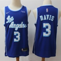 Anthony Davis Los Angeles Lakers Throwback Blue Jersey