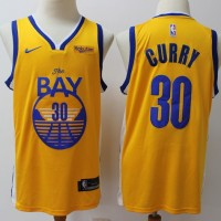 "Stephen Curry 2019-20 Golden State Warriors Yellow ""The Bay"" Jersey"