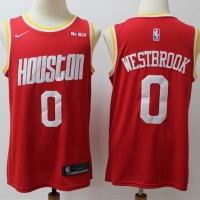 Russell Westbrook 2019-20  Houston Rockets Throwback Red Jersey