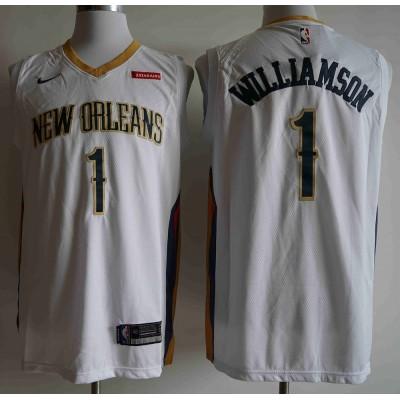 Zion Williamson 2019-20 New Orleans Pelicans White Jersey