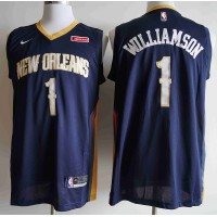 *Zion Williamson 2019-20 New Orleans Pelicans Navy Blue Jersey