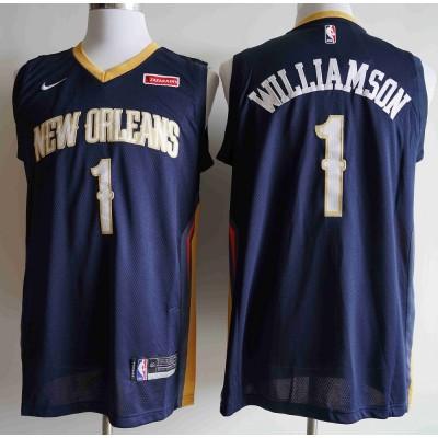 *Zion Williamson 2019-20 New Orleans Pelicans Navy Blue Jersey