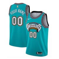 Memphis Grizzlies 2019-20 Throwback Teal Customizable Jersey