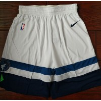 Minnesota Timberwolves White Basketball Shorts