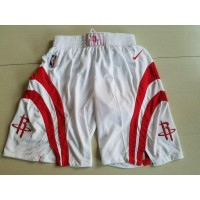 Houston Rockets White Basketball Shorts