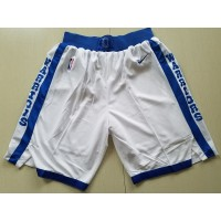 Golden State Warriors Retro White Basketball Shorts
