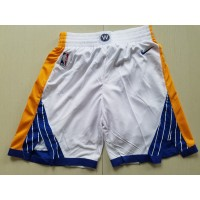Golden State Warriors White Basketball Shorts