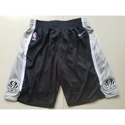 San Antonio Spurs Black Basketball Shorts