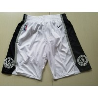 San Antonio White Basketball Shorts