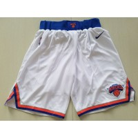 New York Knicks White Basketball Shorts