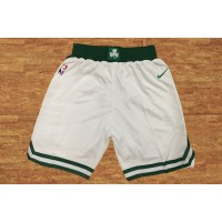 Boston Celtics White Basketball Shorts