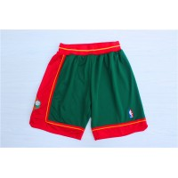 Seattle Supersonics Classic Dark Green Basketball Shorts