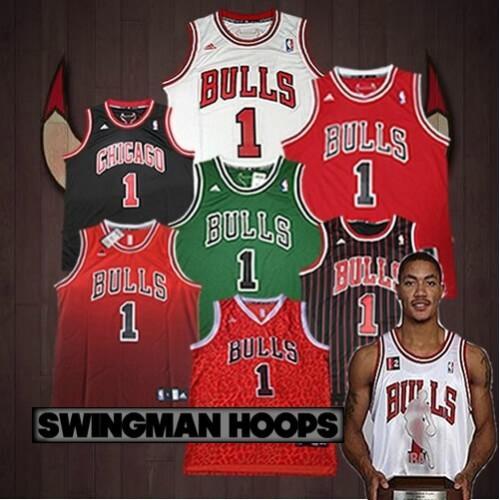 huge selection of 3711d 24a33 Derrick Rose Chicago Bulls REV30 Swingman Jerseys