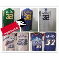 Karl Malone Utah Jazz Hardwood Classics Jerseys