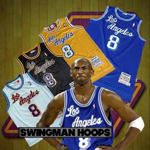 9723f1ca111 Kobe Bryant Los Angeles Lakers No.8 1960 s Throwback Hardwood Classics  Jerseys