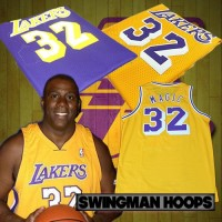 Magic Johnson Los Angeles Lakers Hardwood Classics Jerseys