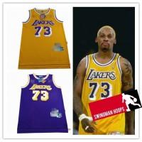 Dennis Rodman Los Angeles Lakers Hardwood Classics Jerseys