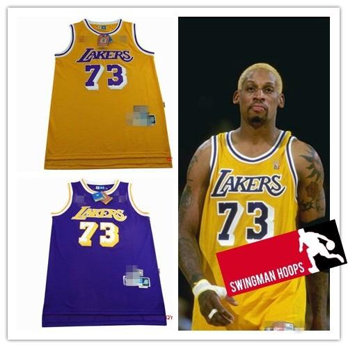 free shipping a0a11 379f4 Dennis Rodman Los Angeles Lakers Hardwood Classics Jerseys