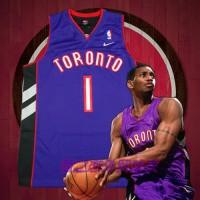 Tracy McGrady Toronto Raptors Purple Front Black Back Jersey