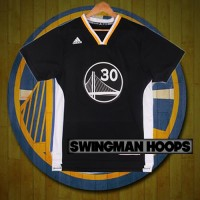 Stephen Curry Golden State Warriors Black Sleeved Jerseys