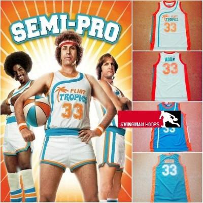 Jackie Moon Flint Tropics Jerseys from the movie Semi-Pro