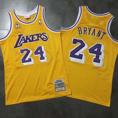 **Kobe Bryant Mitchell & Ness Los Angeles Lakers 60th Anniversary Special Edition Jersey - Super AAA