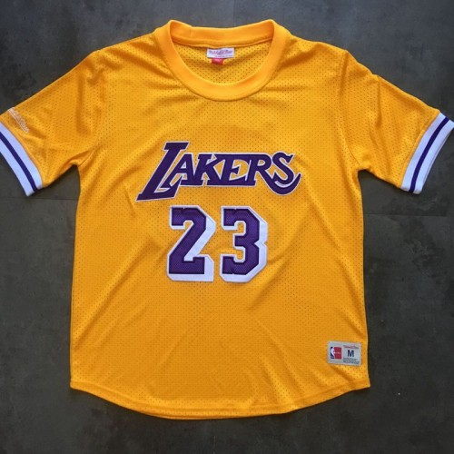 best sneakers a7284 2ced8 LeBron James M&N Los Angeles Lakers Sleeved Jersey - Super ...
