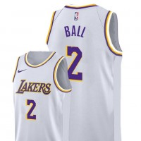 Lonzo Ball Los Angeles Lakers 2019 White Jersey