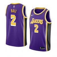 Lonzo Ball Los Angeles Lakers 2019 Purple Jersey