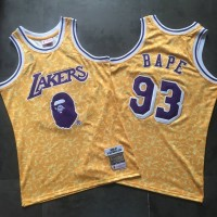 BAPE X Mitchell & Ness Special Edition Lakers Jersey - Super AAA Quality