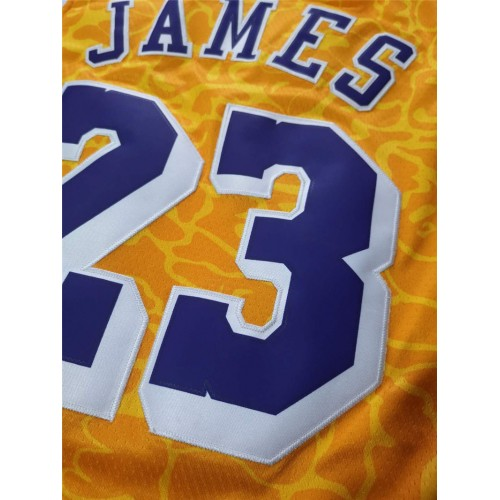 pretty nice 2d268 ad466 LeBron James BAPE X Mitchell & Ness Special Edition Lakers ...