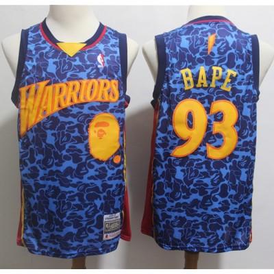 BAPE X Mitchell & Ness Special Edition Golden State Warriors Jersey - Swingman Version