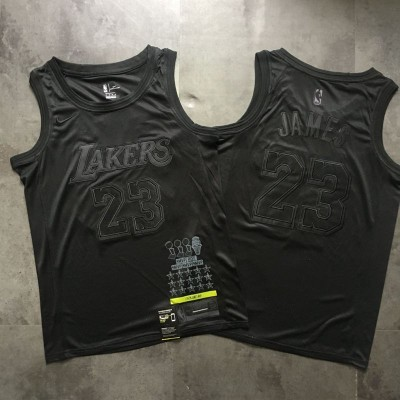 LeBron James MVP Limited Edition Black on Black Los Angeles Lakers Jersey - Super AAA Quality