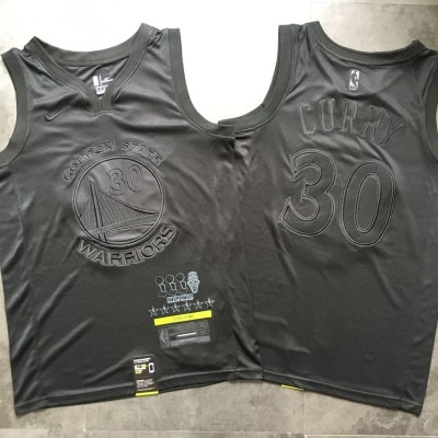 *Stephen Curry MVP Limited Edition Black on Black Golden State Warriors Jersey - Super AAA Quality