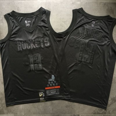 *James Harden MVP Limited Edition Black on Black Houston Rockets Jersey - Super AAA Quality