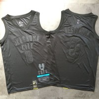 Russell Westbrook MVP Limited Edition Black on Black Golden State Warriors Jersey - Super AAA Quality