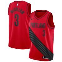 CJ McCollum Portland Trail Blazers Red Jersey