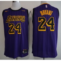 7f3b40f9cf6 Kobe Bryant No.24 - 2018-19 Los Angeles Lakers City Edition Jersey