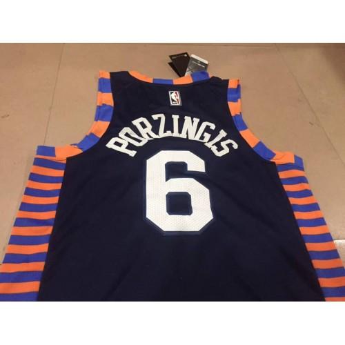 new arrival 1dfc0 4488f Kristaps Prozingis 2018-19 New York Knicks City Edition Jersey