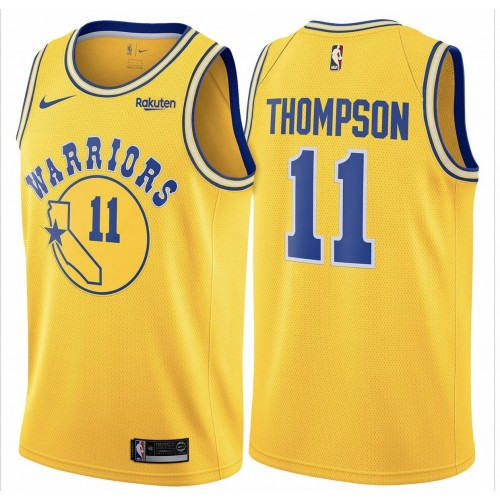 brand new 12ce2 6652e Klay Thompson 2019 Golden State Warriors Yellow Jersey