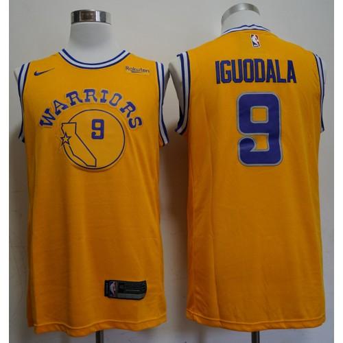 big sale 08f2b 70dc8 Andre Iguodala 2019 Golden State Warriors Yellow Jersey