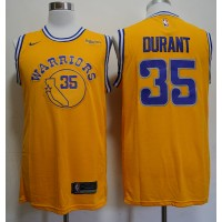 Kevin Durant 2019 Golden State Warriors Yellow Jersey