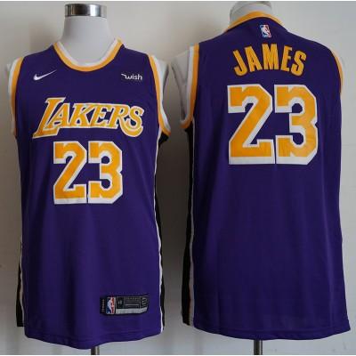 LeBron James Los Angeles Lakers 2019 Statement Purple Jersey