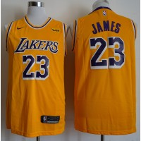 LeBron James Los Angeles Lakers 2019 Yellow Jersey