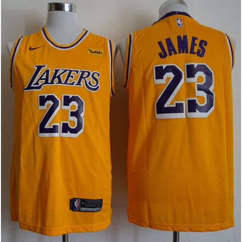 best authentic 1f6f0 67474 LeBron James Los Angeles Lakers Classic Gold Jersey