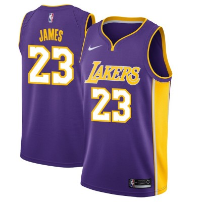 LeBron James Los Angeles Lakers 2017-18 Purple Jersey