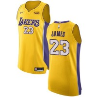 LeBron James Los Angeles Lakers 2017-18 Yellow Jersey